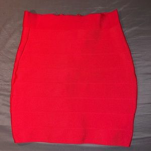 Red pencil skirt size XS